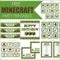 Free Template Minecraft Birthday