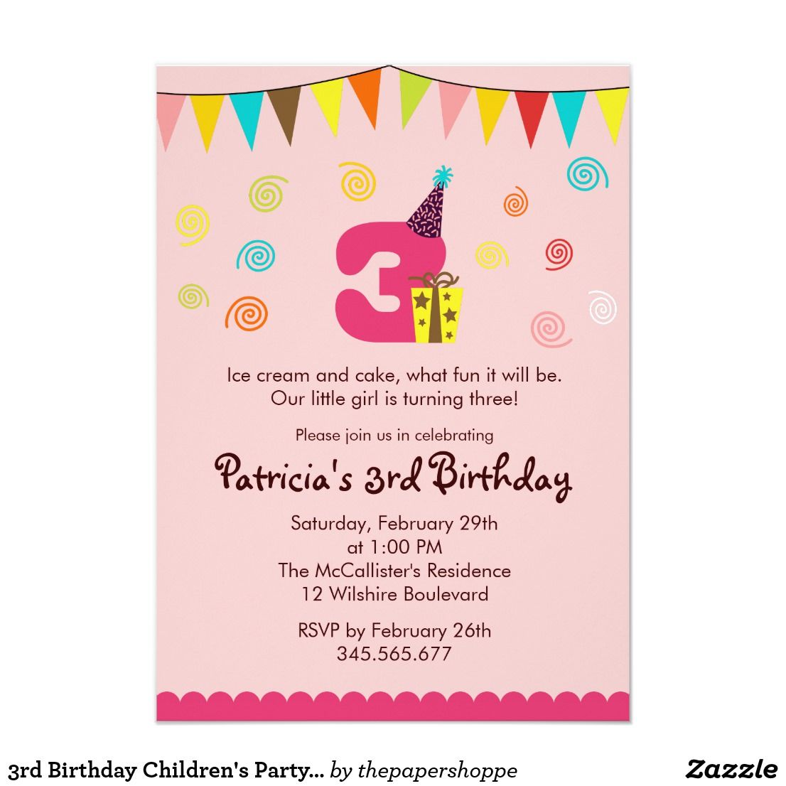 Great 3rd Birthday Invitation Wording 23 On Free Printable