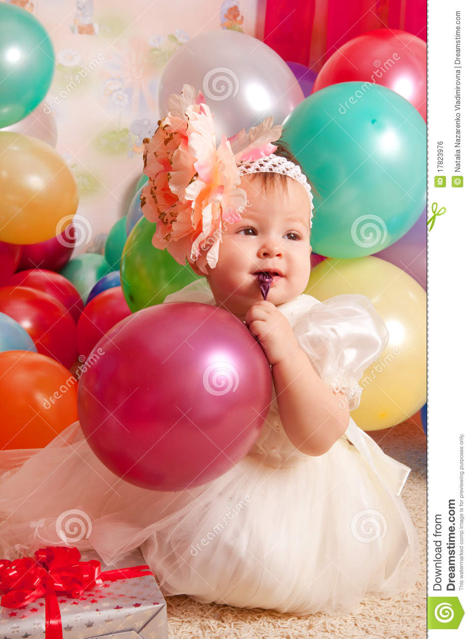 Birthday Baby Stock Images