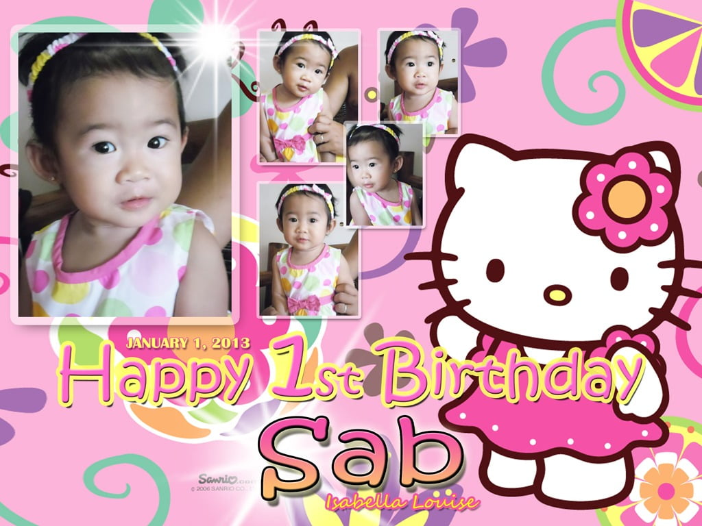 Hello Kitty Background Happy 1st Birthday 8 » Background Check All