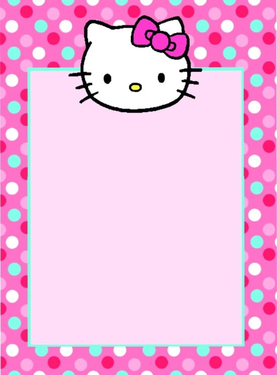 Invitation  Hello Kitty Invitation Templates Free Download