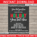 Printable Christmas Party Flyer Templates