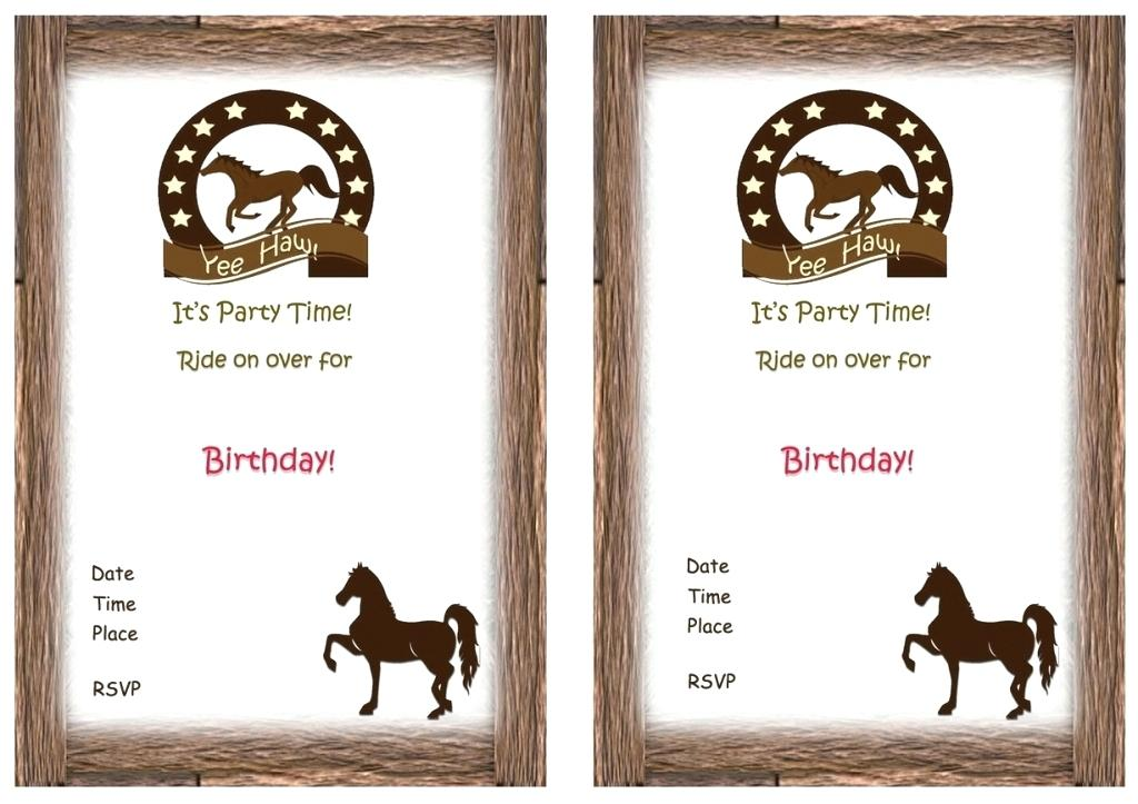 Perfect Printable Horse Birthday Invitations