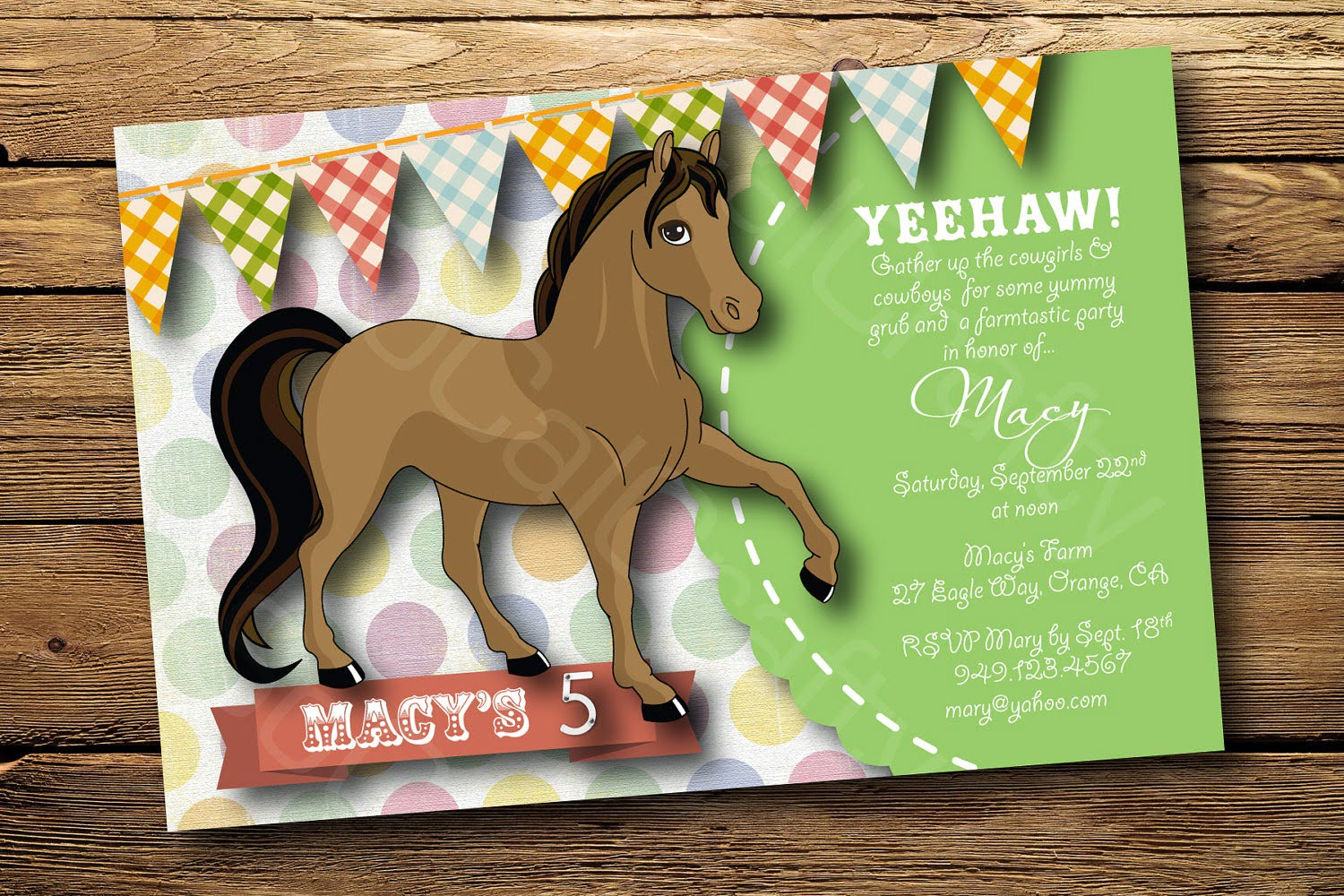 Horse Party Invitations Horse Party Invitations With A Marvelous