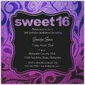 Printable Sweet Sixteen Invitation Templates