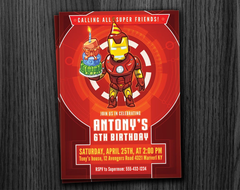 Ironman Invitation Birthday