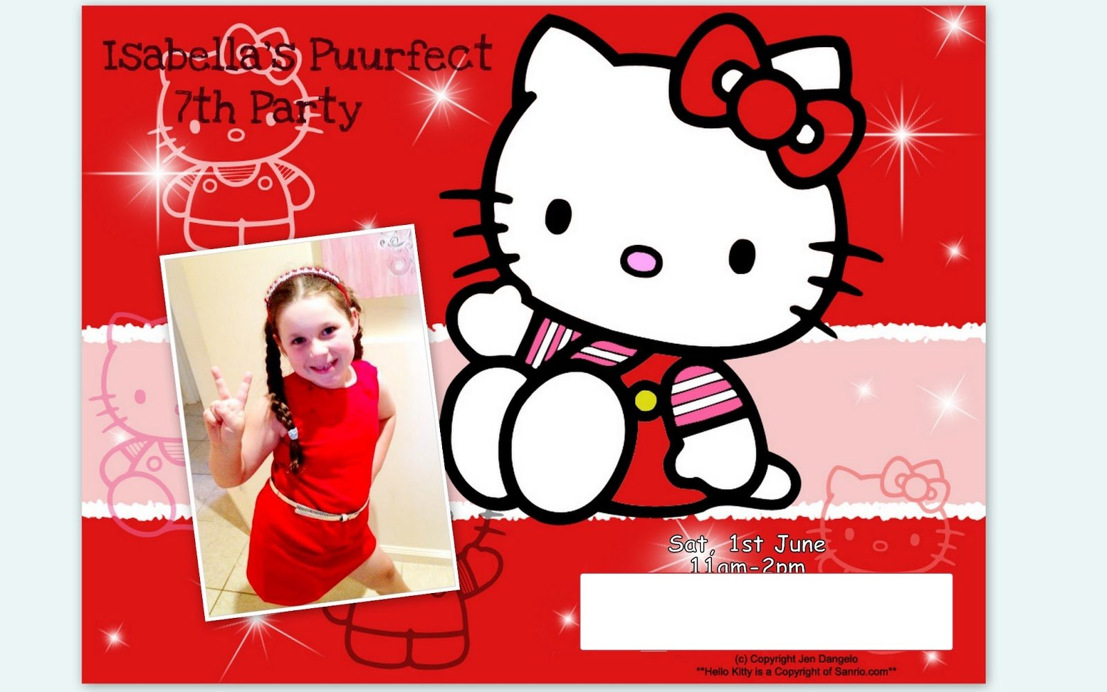 One Mummy's Musings  Isabella's Hello Kitty 7th Birthday Party