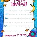 Printable Birthday Invitation Cards For Boys
