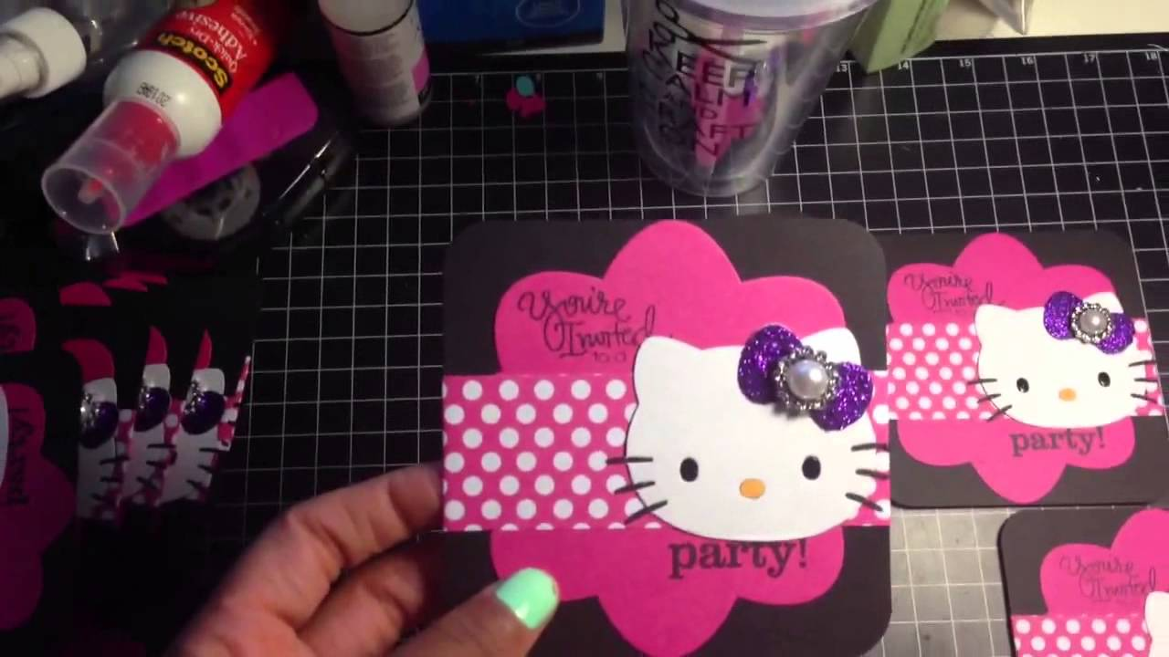 Full Video Of Hello Kitty Birthday Invitations For Cortlyn