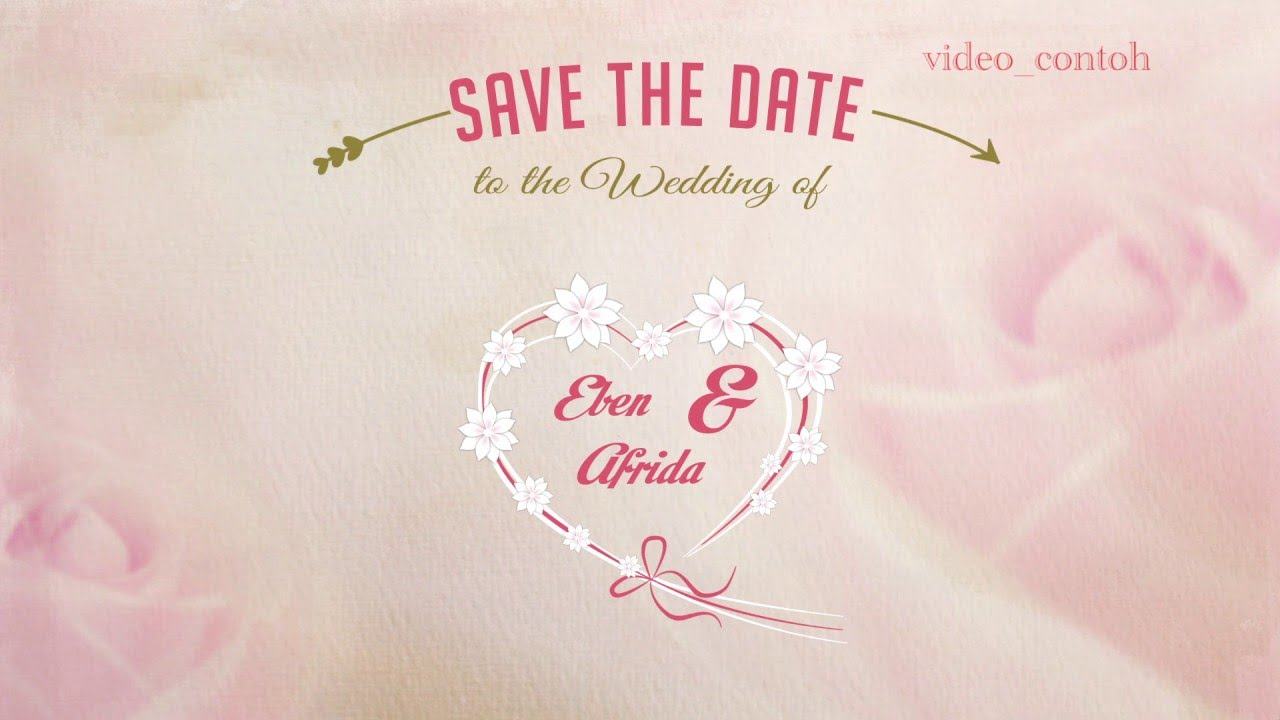 Contoh Wedding Invitation
