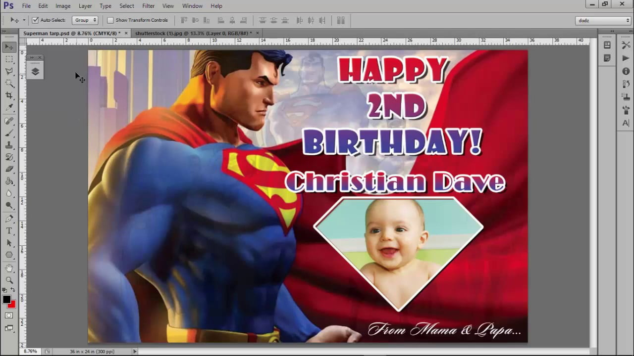 Free Tarpaulin Layout Template ( Superman Background)