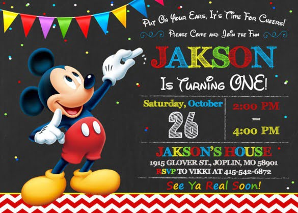 Mickey Mouse Birthday Invitation Template Simply Simple Free