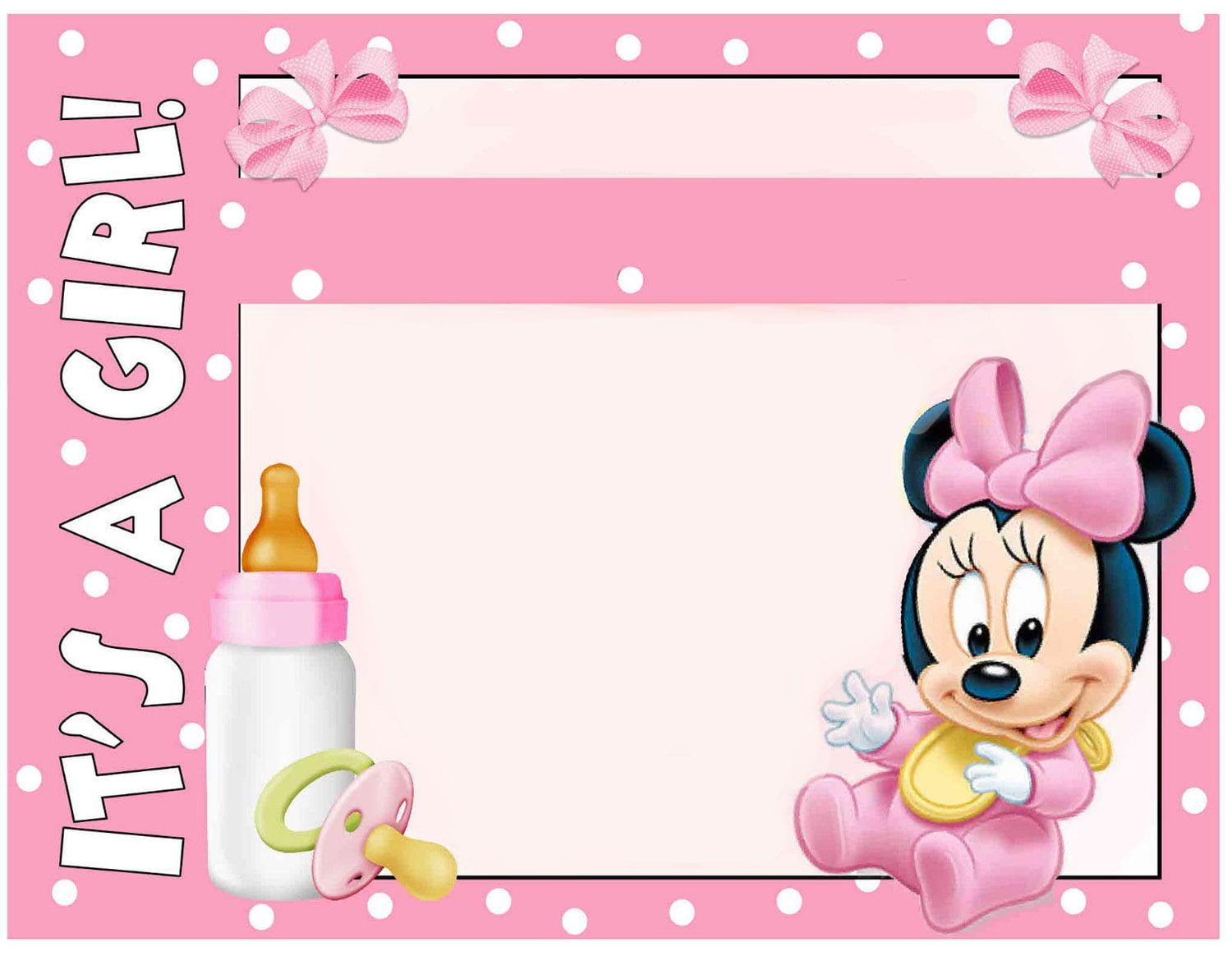 Minnie Mouse Polka Dots Nice Minnie Mouse Baby Shower Invitation