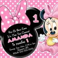 Minnie Mouse 1st Birthday Invitation Templates