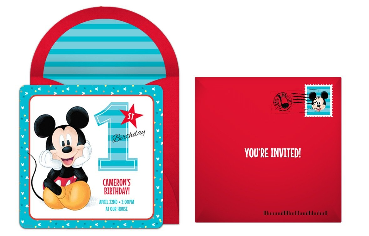 New Mickey Mouse 1st Birthday Invitations 12 With Additional