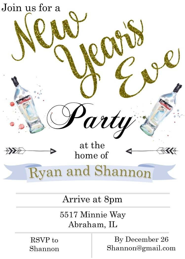 New Year S Eve Party Invitations 2019 Contoh Invitation Card