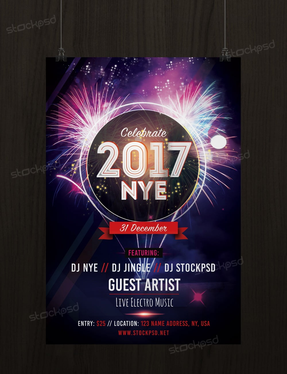 Get New Years Eve 2017 Party Psd Template Flyer