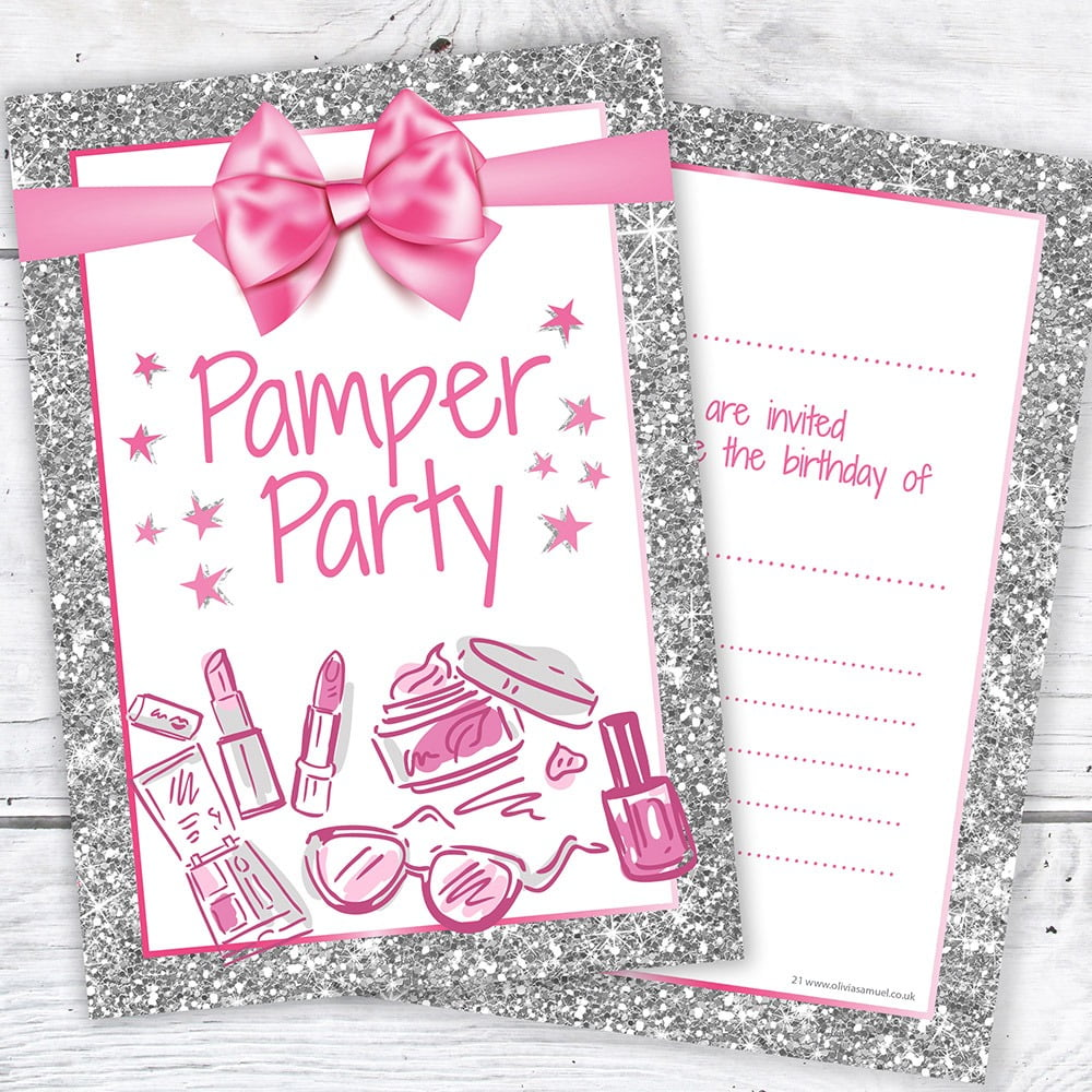 Pamper Party Invitations Pamper Party Invitations With A Marvelous