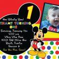 Micky Mouse Party Invitation