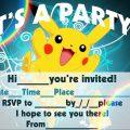 Free Pok?mon Birthday Party Invitations