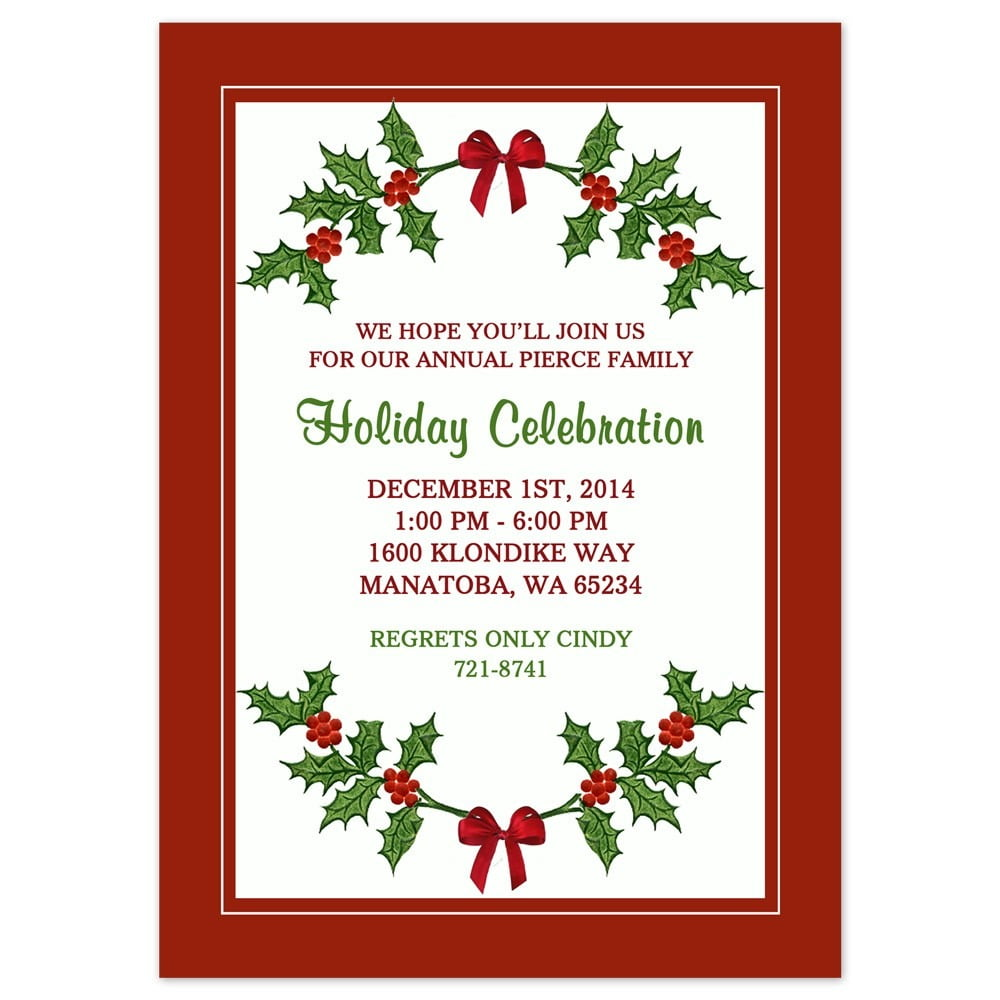 Printable Christmas Party Invita Fancy Free Christmas Party