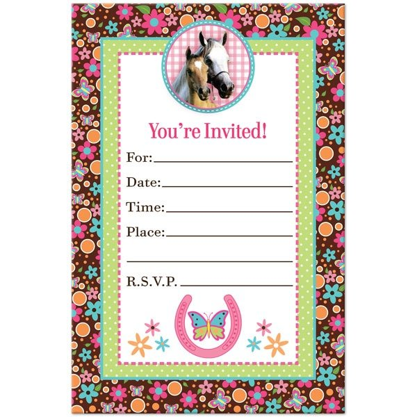Printable Horse Birthday Invitations Fabulous With Printable Horse