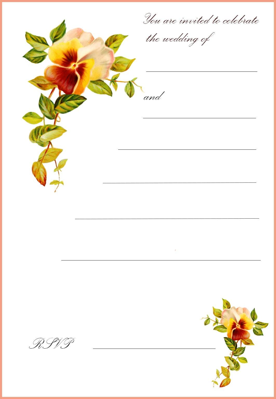 Printable Wedding Invitation Printable Wedding Invitation