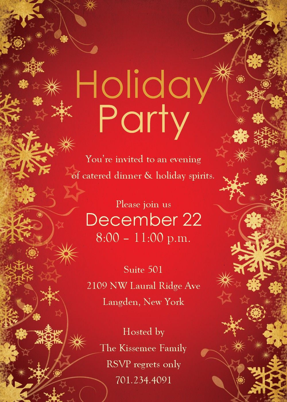 Invitation Template Christmas Party Templates Free Word Holiday