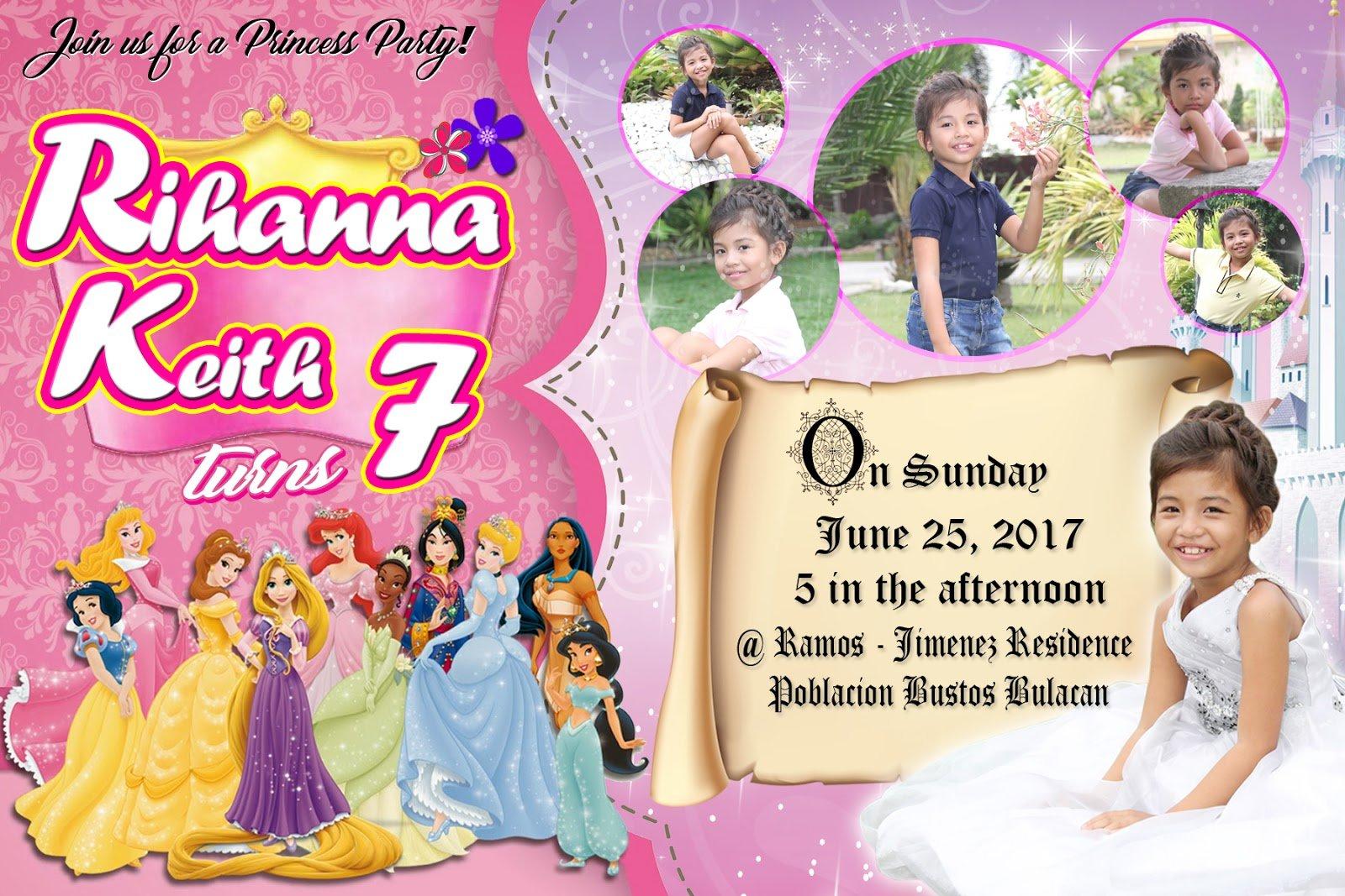 Sample Invitation 7th Birthday Princess 8 » Happy Birthday World