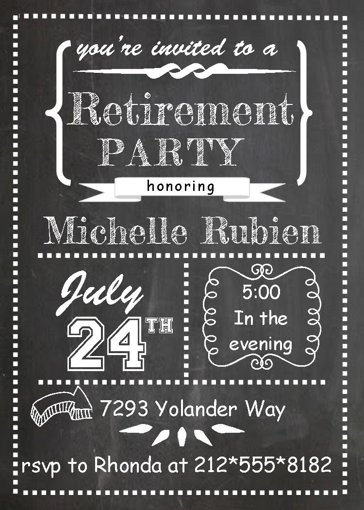Retirement Party Invitations   Custom Designed New For Winter 2019