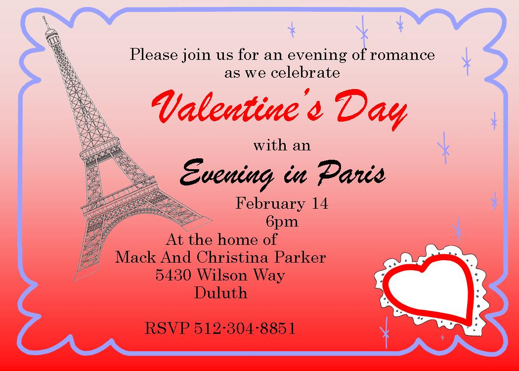 Valentine's Day Party Invitations 2019
