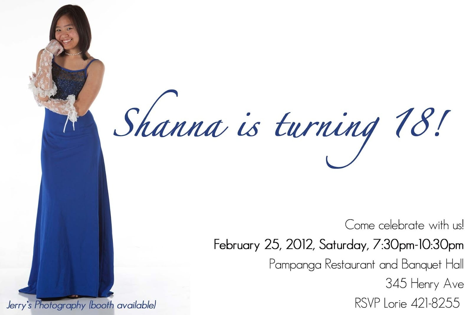 Mommy Designs  Shanna's 18th Birthday Invitation