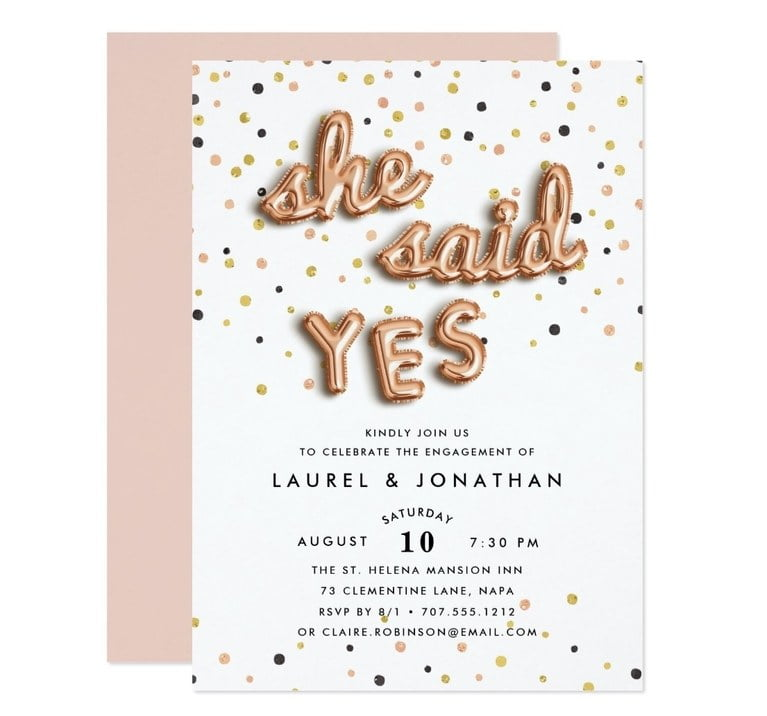 24 Festive Engagement Party Invitations That Won't Break The Bank