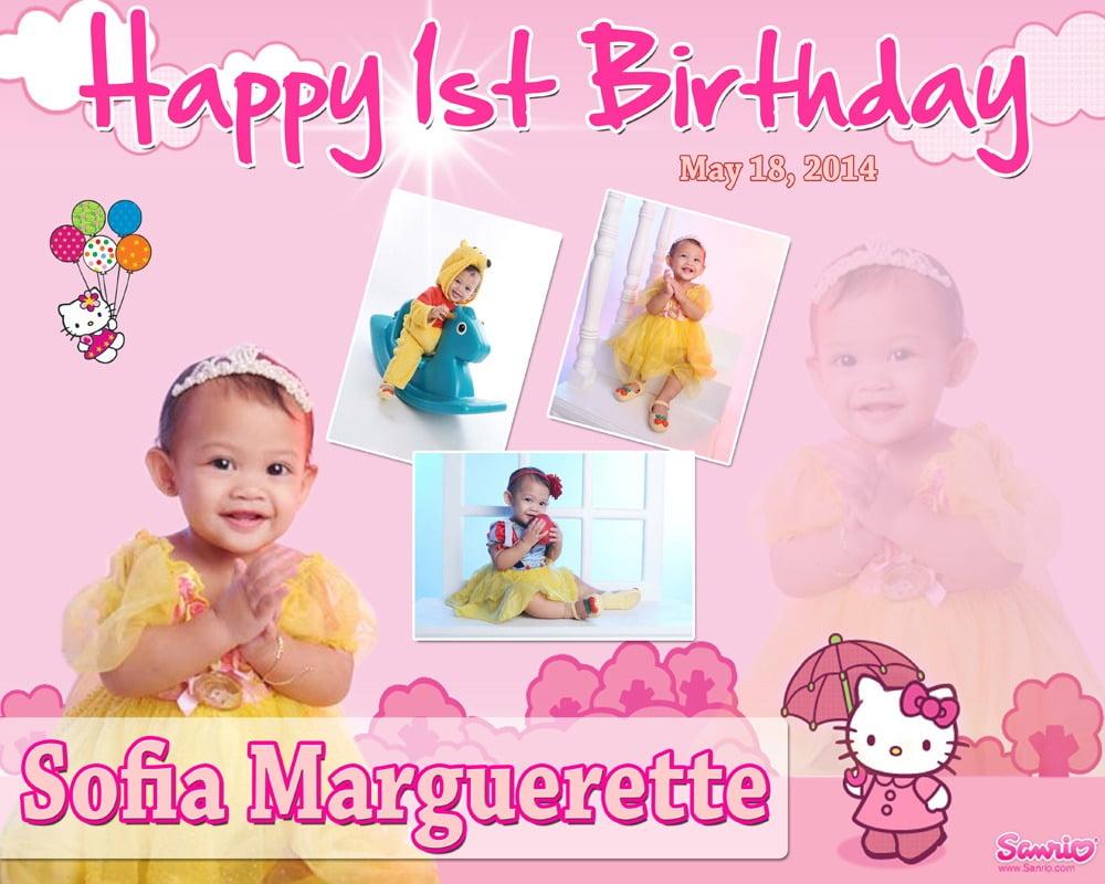 Sofia Marguerette's 1st Birthday (hello Kitty)
