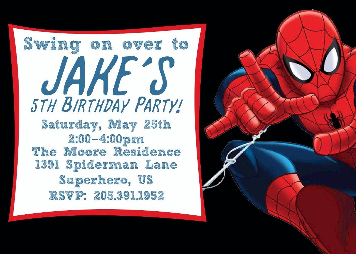 Spiderman Birthday Invitations Spiderman Birthday Invitations For