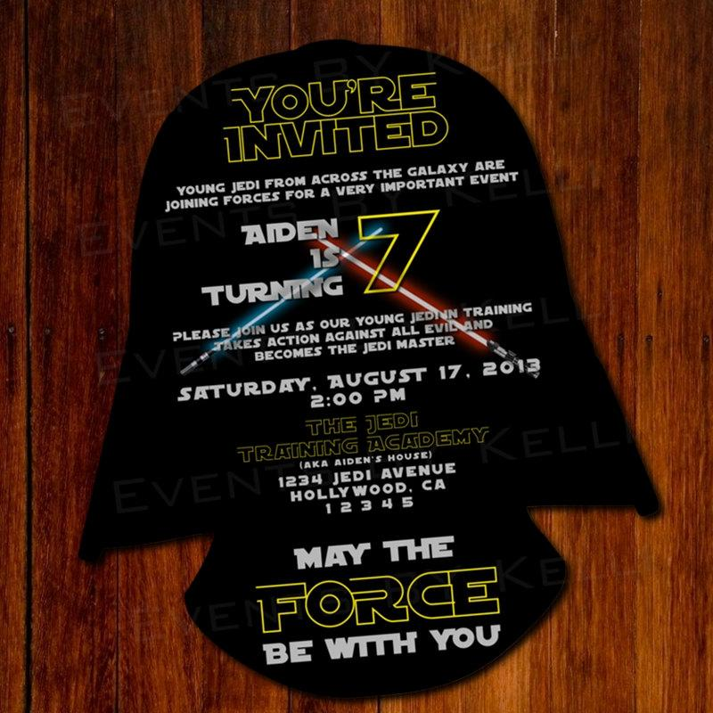Star Wars Birthday Invitation Template Free Marvelous With Star