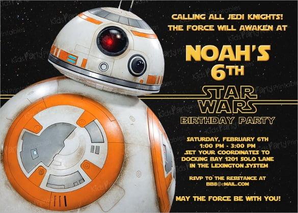 Star Wars Birthday Invitation Template Free Popular With Star Wars