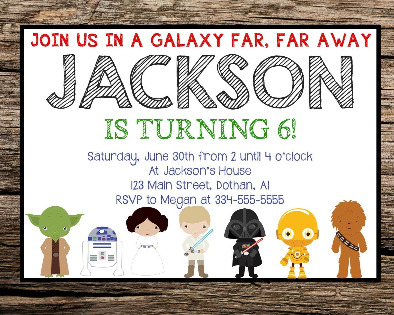 Star Wars Birthday Invitations By Way Of Using An Impressive