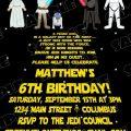 Printable Star Wars Birthday Invite Templates