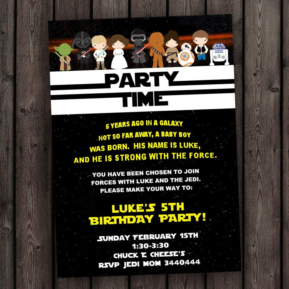 Star Wars Party Invitations Star Wars Party Invitations For Design