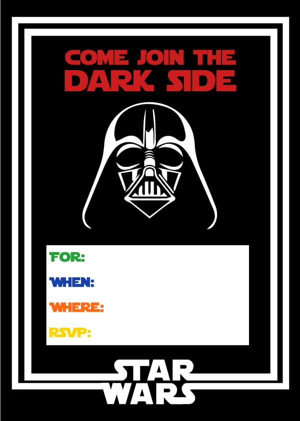 Star Wars Party Invitations Image Best Star Wars Birthday