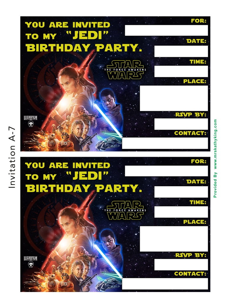 Starwarsvii A Invitations Stunning Free Star Wars Party