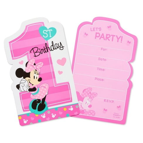 Febdcbbffaeaca New Minnie Mouse 1st Birthday Invitations