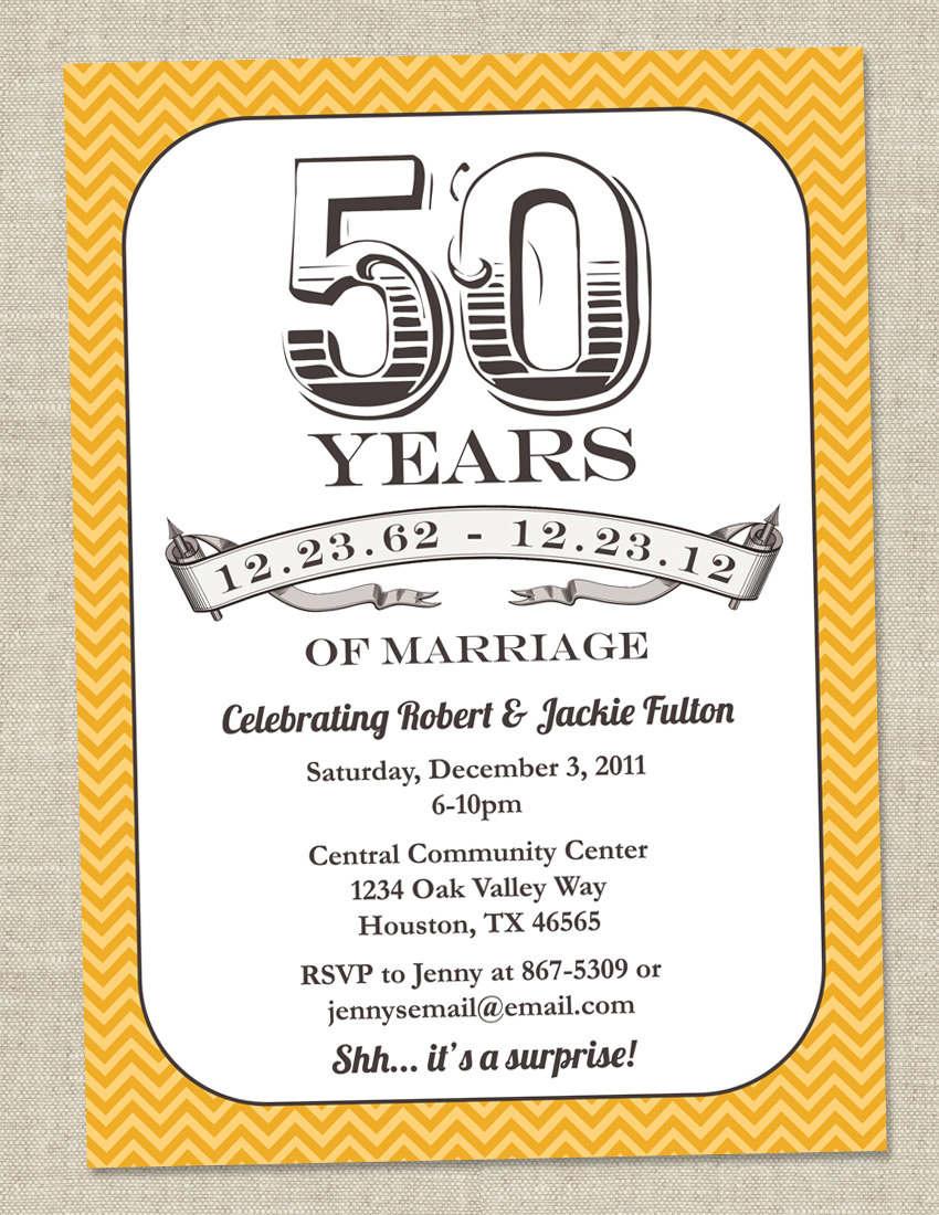 50th Birthday Party Invitations Templates Free