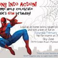 Spiderman Invitation Template Birthday Party