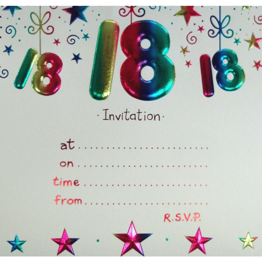 Th Birthday Invitations Templates Free Best 18th Birthday Party