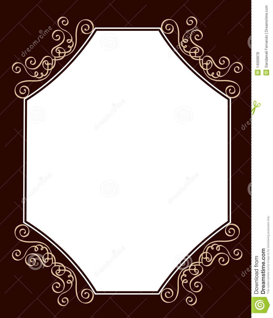 Wedding Invitation Template Stock Vector