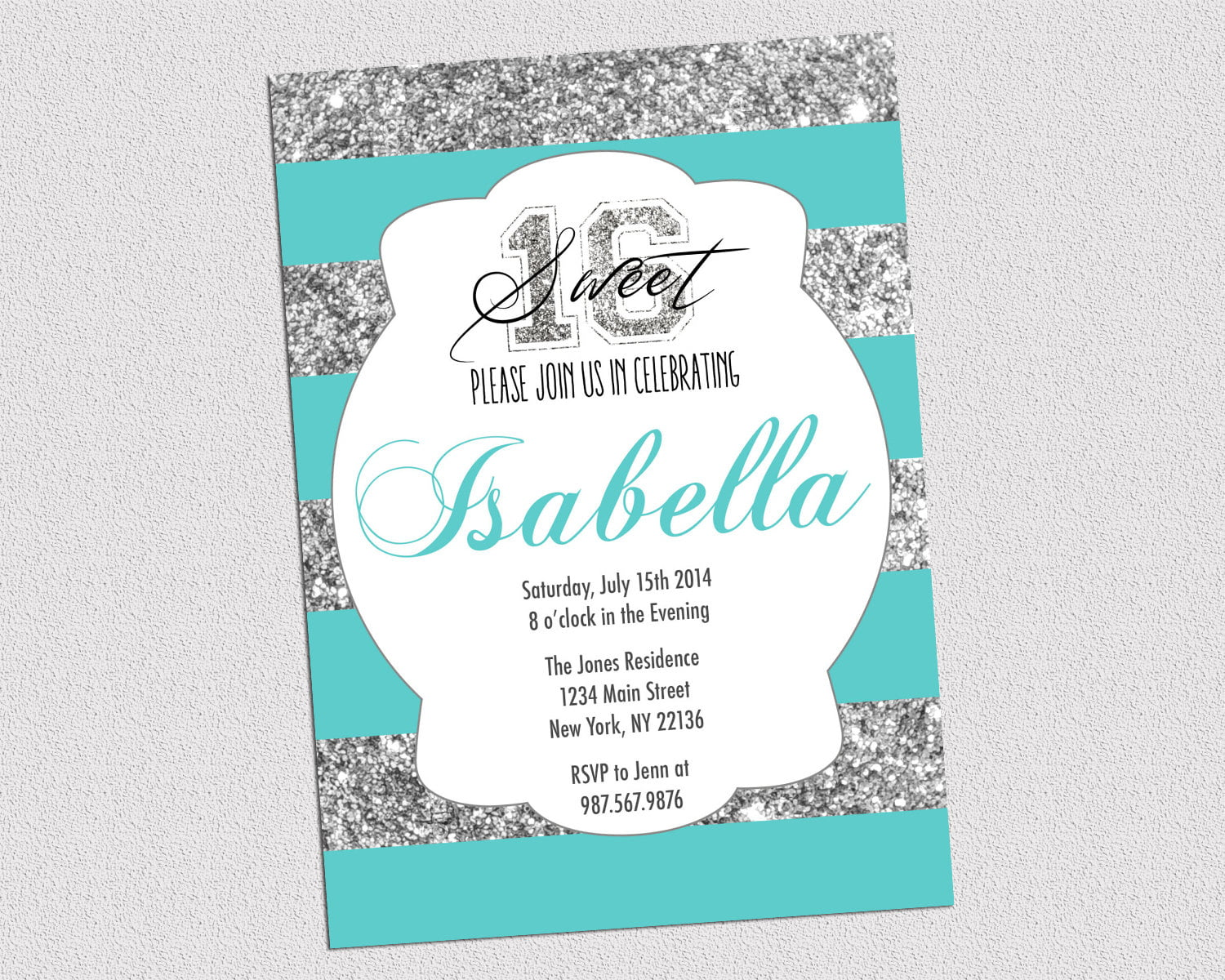 Free Printable 16th Birthday Invitations