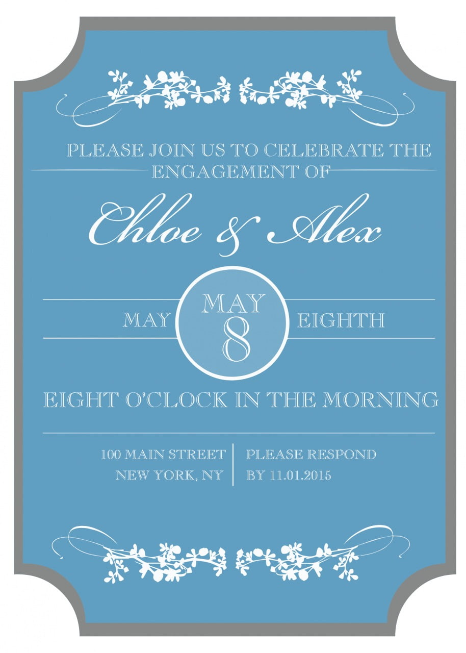 Write Name On Engagement Invitation Card Best Of 9 Free Printable