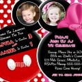 Mickey & Minnie Invitation Templates